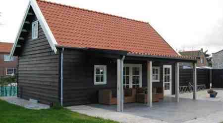 Zweeds potdeksel tuinhuis gerealiseerd door ABS Bouwsystemen