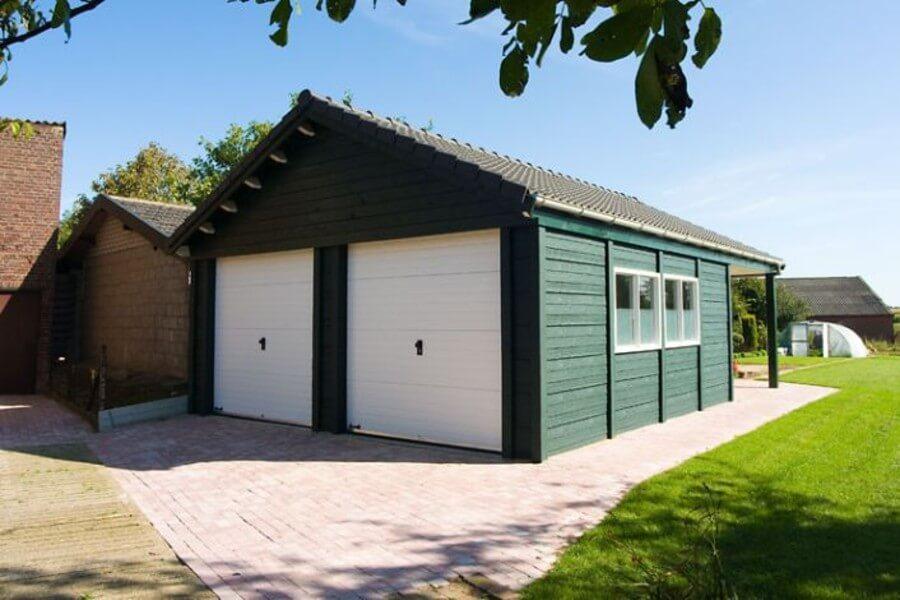Garage volgens prefab beton bouwsysteem