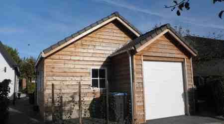prefab garage met overkapping