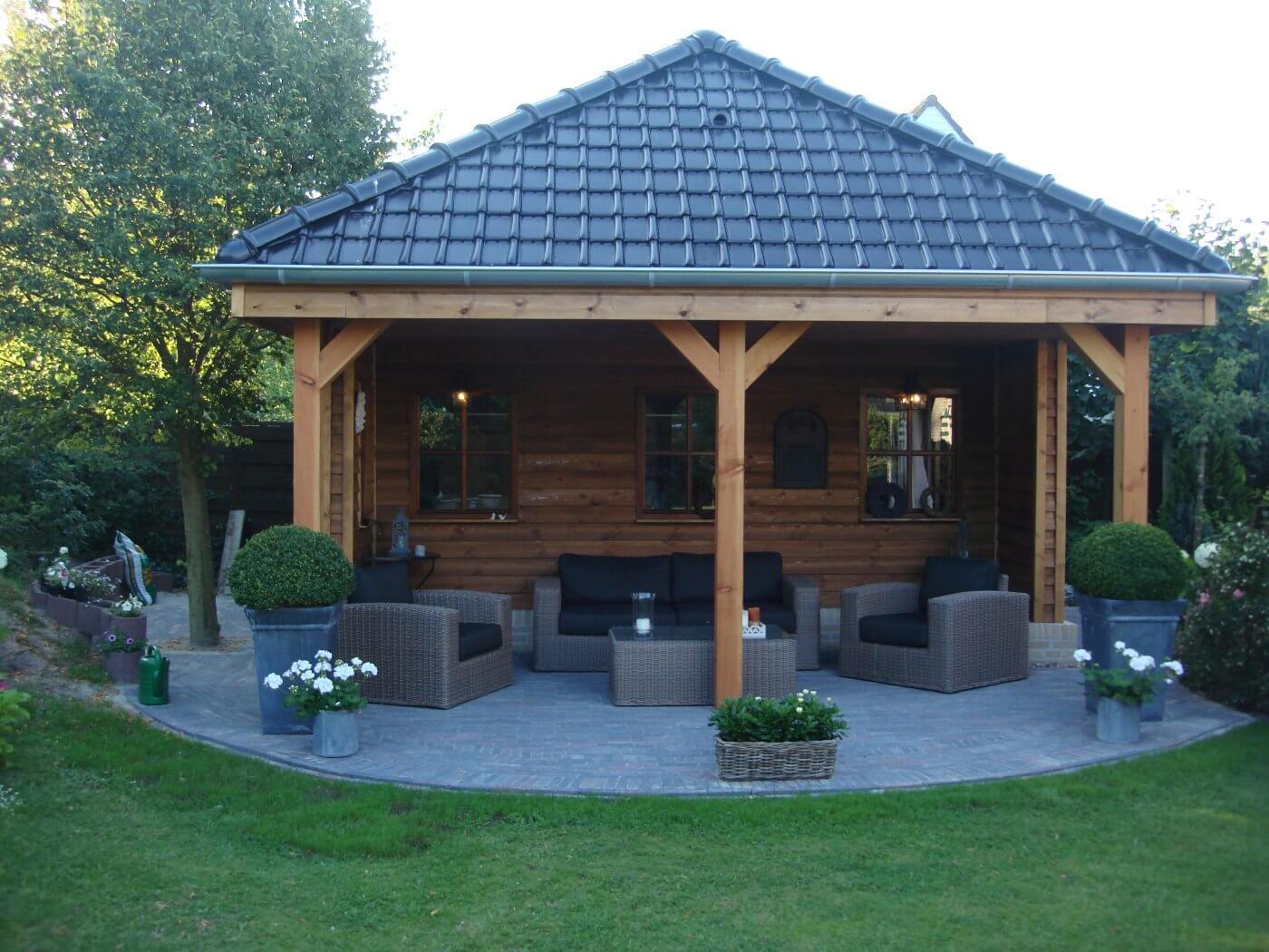 prefab tuinhuis met schilddak
