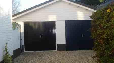 prefab dubbele garage met metselwerk