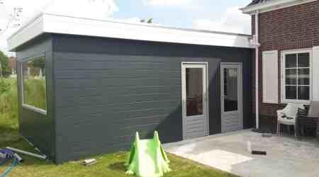 prefab garage met kantoor