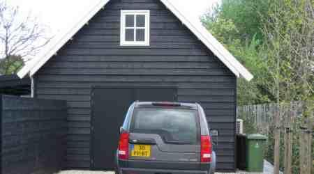 prefab garage met zadeldak