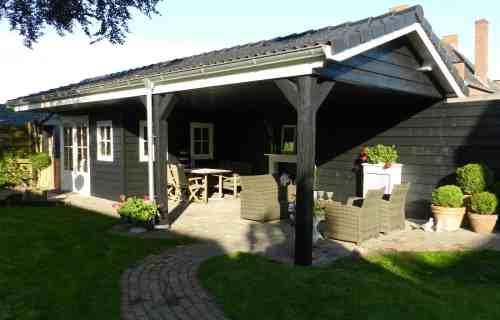 prefab tuinhuis met carport