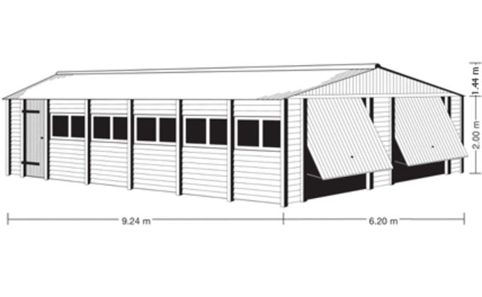 bouwtekening prefab garages