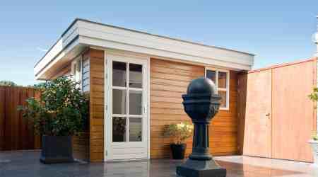 Klein tuinhuis gebouwd door ABS Bouwsystemen