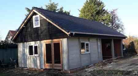 prefab tuinhuis met garage